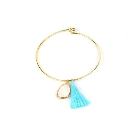 Bracelet pierre semi-précieuse bleue