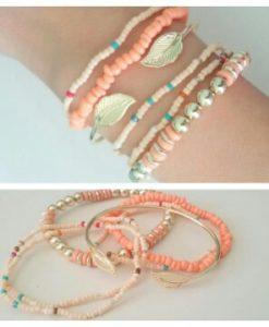 Bracelets Bohème Feuille or