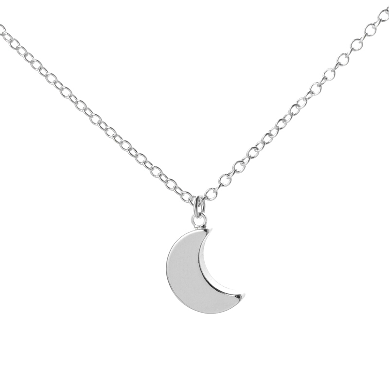 G Collier Consultants Collier lune argent �...