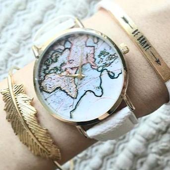Montre carte du monde 2018