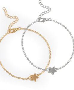 Bracelet étoile or. Bijoux minimaliste
