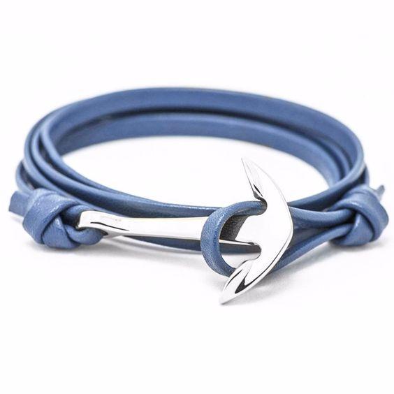 bracelet cuir femme bleu