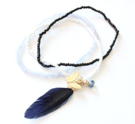 Bracelet plume papillon swarovski