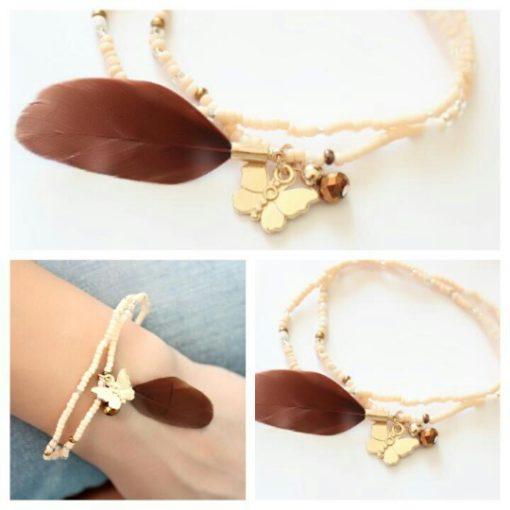 Bracelet plume tendance 2018 swarovski