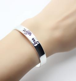 Bracelet cadeau femme porte-bonheur argent