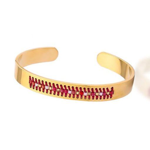 Bracelet jonc or perles 2018