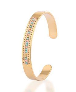 Bracelet jonc perles 2018