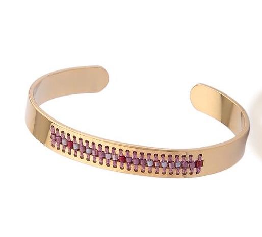 bracelet jonc tendance 2018 perles bijoux fantaisie pas cher. Black Bedroom Furniture Sets. Home Design Ideas