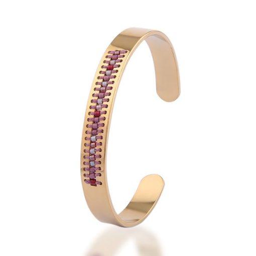 Bracelet jonc tendance 2018 -perles