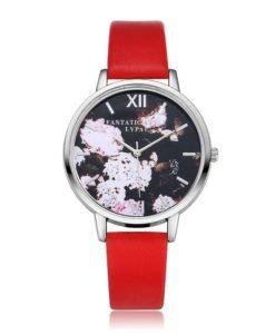 Idée cadeau montre rouge femme
