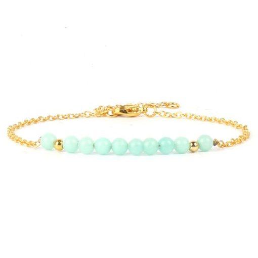 Bracelet cadeau femme- aigue marine
