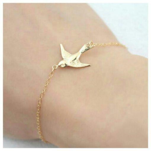 Bracelet cadeau femme hirondelle