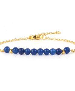 Bracelet cadeau femme- jade bleu