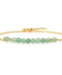 Bracelet cadeau femme- pierres jade