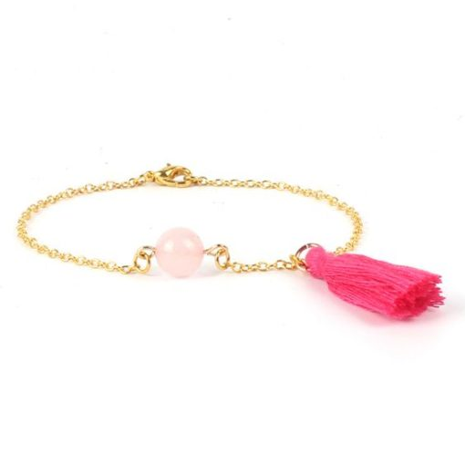 Bracelet cadeau soeur- pierre rose