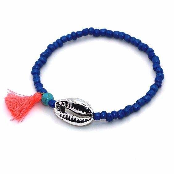 Bracelet coquillage argent tendance 2017 bijoux for Porte bracelet pas cher