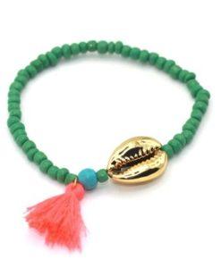 Bracelet coquillage or ete 2017