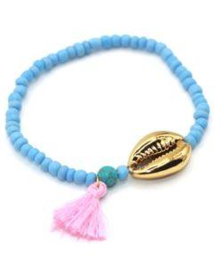 Bracelet coquillage plaque or ete 2017
