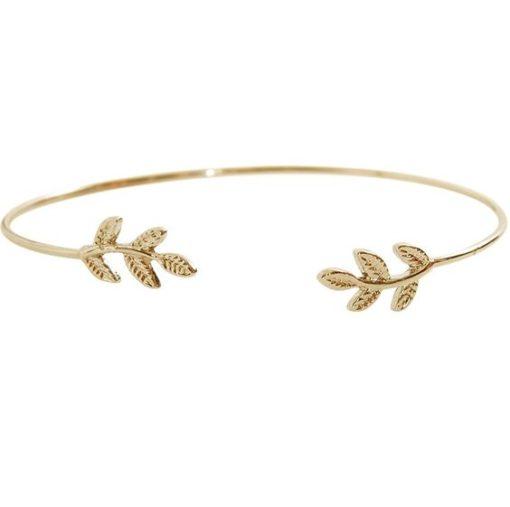 Cadeau bijoux femme- Bracelet feuille