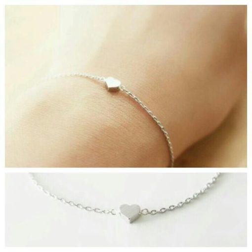Cadeau femme- bracelet coeur argent