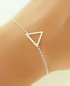 Cadeau femme- bracelet triangle argent