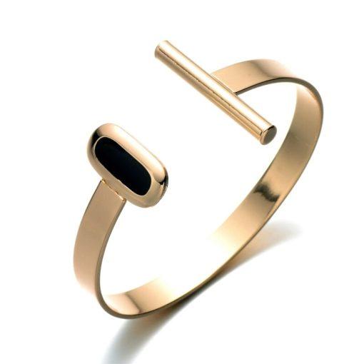 Idée cadeau anniversaire Femme- Bracelet or noir