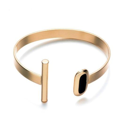 Idee anniversaire Femme- Bracelet or noir