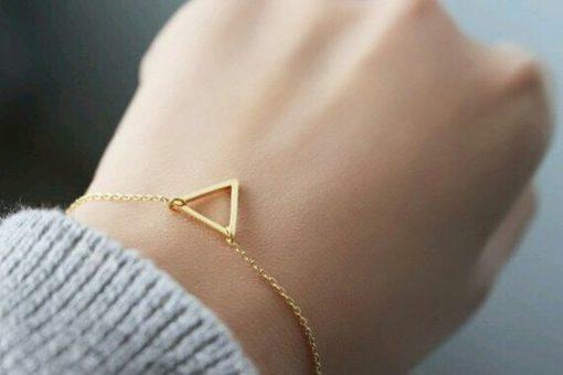 Idée cadeau femme- bracelet triangle