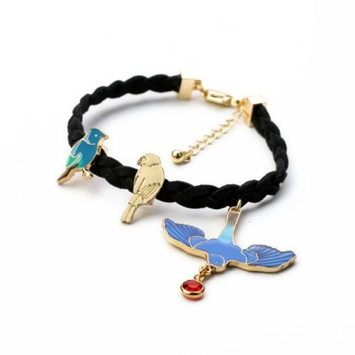 Bracelet cadeau anniversaire femme. Bracelet oiseau