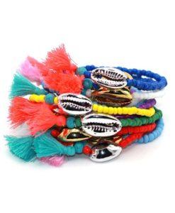 bracelet coquillage or argent tendance ete 2017