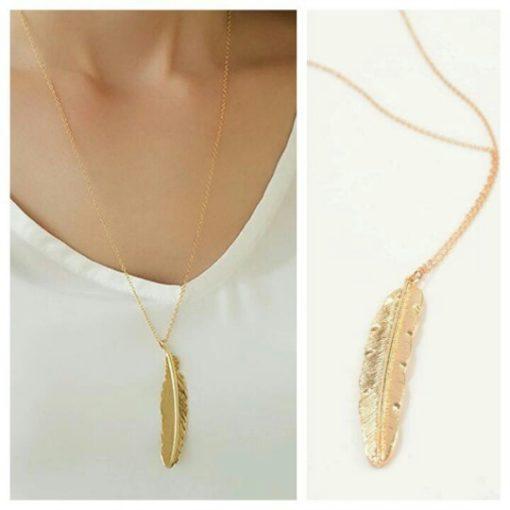 cadeau original femme- collier plume