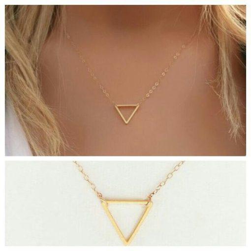 cadeau original femme- collier triangle