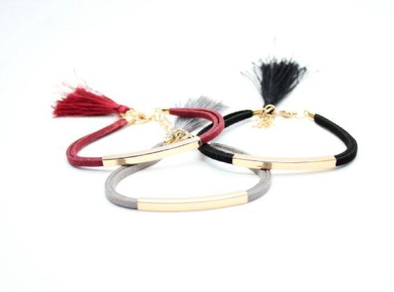 idée cadeau original femme - Bracelet noir - BIJOUX FANTAISIE 934e94f4e63