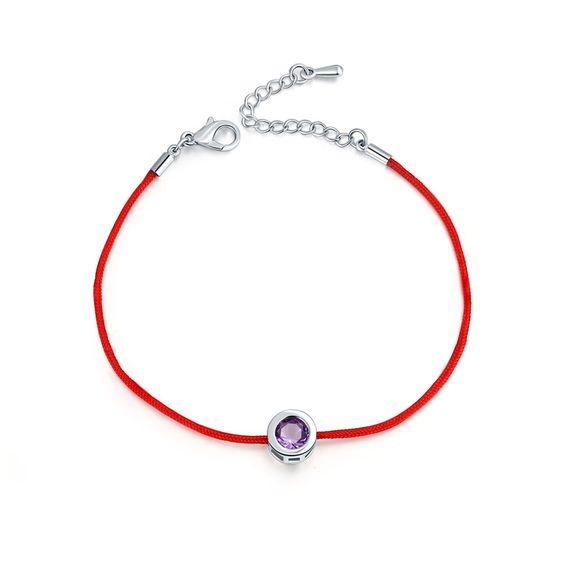 Bracelet Swarovski Zirconia cordon rouge