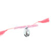 Bracelet coquillage cordon rose