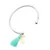Bracelet coquillage swarovski argent -Idee cadeau femme