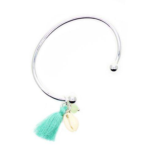 bracelet coquillage swarovski argent idee cadeau femme bijoux fantaisie pas cher. Black Bedroom Furniture Sets. Home Design Ideas