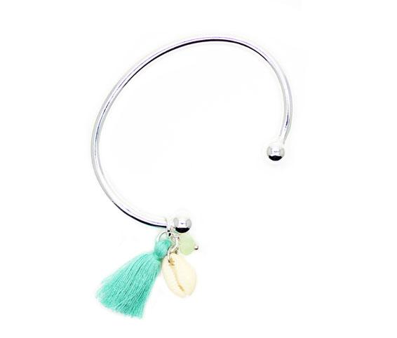 bracelet coquillage swarovski argent idee cadeau femme bijoux fantaisie. Black Bedroom Furniture Sets. Home Design Ideas