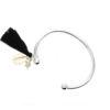 Bracelet jonc coquillage argent- cadeau femme