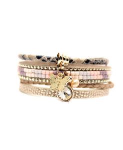 Bracelet multi tours Swarovski. Idee cadeau femme
