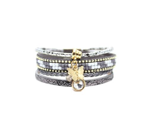 bracelet multi tours swarovski papillon bijoux fantaisie. Black Bedroom Furniture Sets. Home Design Ideas