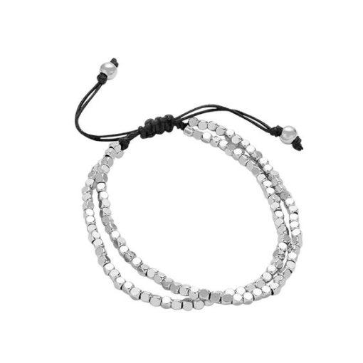 Bracelet perles argent - Idee cadeau femme