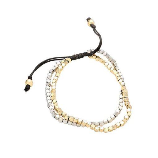 Bracelet perles or argent – Idee cadeau femme-