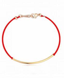Bracelet tube or cordon rouge