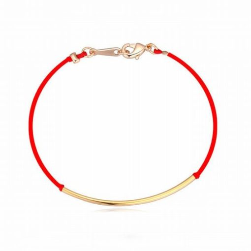 Bracelet tube or cordon rouge