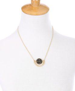 Collier Marbre noir -Idée cadeau Femme