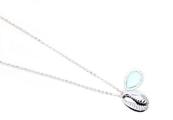 collier femme argent pierre