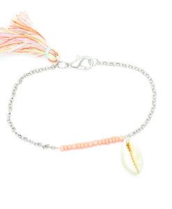 Idée cadeau- bracelet coquillage corail. Bijoux fantaisie pas cher France
