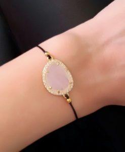 Idée cadeau femme-Bracelet cordon pierre