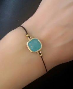 Idée cadeau femme-Bracelet pierre turquoise